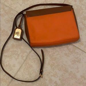 Ralph Lauren Bags - Ralph Lauren orange and brown crossbody